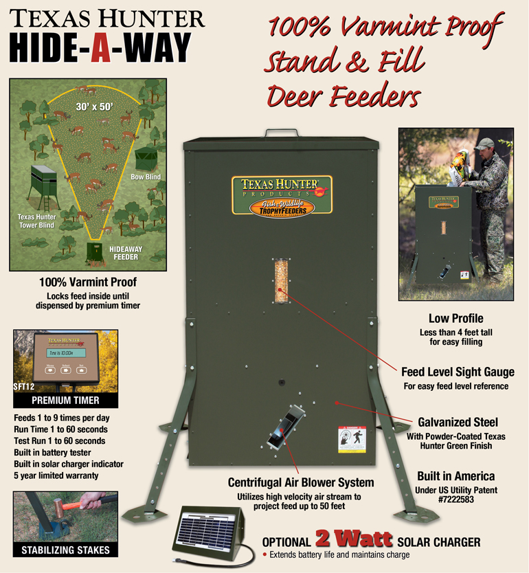 Texas Hunter Hideaway Wildlife Feeders