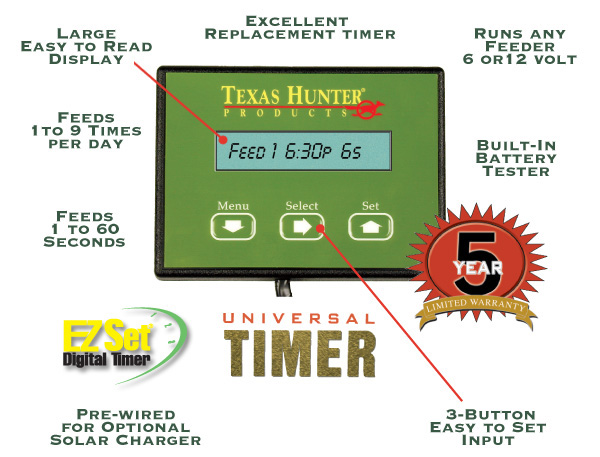 Texas Hunter Game Feeder Timers